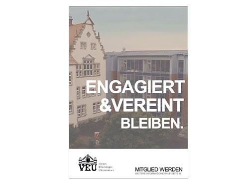 VEU - Timeline Plakat Mitglied werden