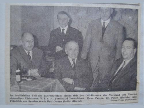 VEU - Timeline ehemaliger Vorstand des VEU
