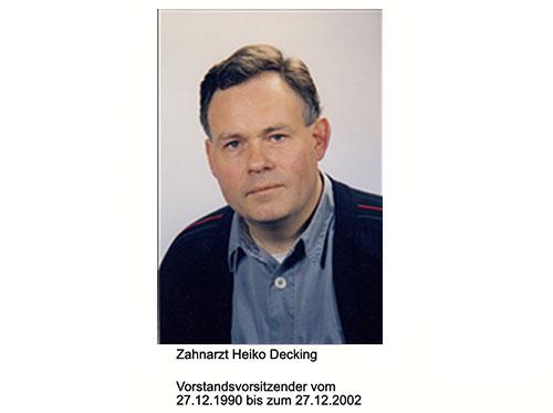 VEU - Timeline Vorstandsvorsitzender Zahnarzt Heiko Decking